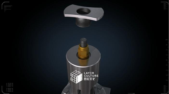 工业三维机械万博最新体育app演示制作阀门